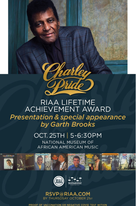 Garth Brooks Presents RIAA Lifetime Achievement Award To Charley Pride and His Accomplished Career in Country Music